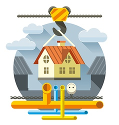 Fast Flat House vector image vector image