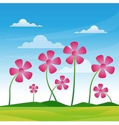 flower pink vector image vector image