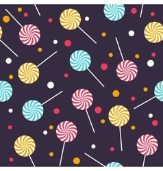 Seamless pattern with colorful lollipops vector image vector image