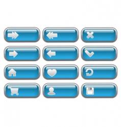 shiny internet buttons set vector image