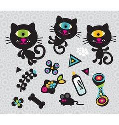 cat figures vector image vector image