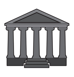 isolated court building vector image