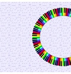 Piano keyboard on dimmed backgorund vector
