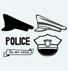Police cap vector image vector image