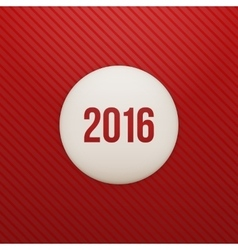 Realistic white Sticker on red Background vector image
