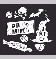 set of halloween badges vector image vector image