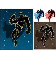 Superhero In The Sky vector image vector image