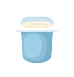 Yogurt in blue plastic cup icon cartoon style vector image vector image