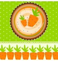 Carrot Cake Background vector image vector image