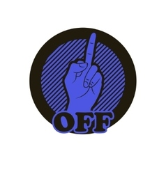 Hand with middle finger icon vector image