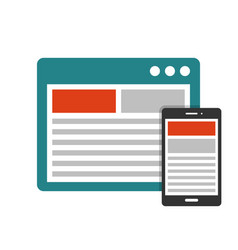 responsive design flat icon vector image