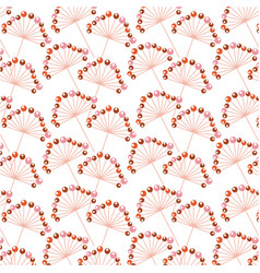 seamless pattern decorative branch with berries vector image