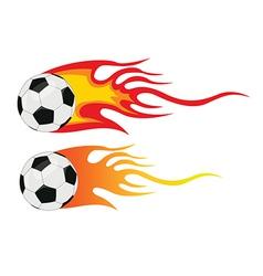 Soccer ball flying through air vector image
