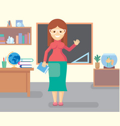 teacher in class room vector image