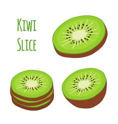 tropical fruit exotic kiwi setflat style vector image vector image