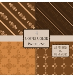 4 patterns set 9 vector image