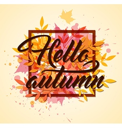 Abstract autumn frame with leaves vector image