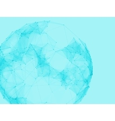 Abstract polygonal spheres Futuristic vector image