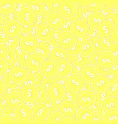 American dollar gold coins seamless pattern fair vector