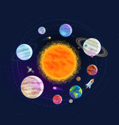Astronomy space astrology concept solar system vector