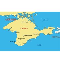 Autonomous Republic of Crimea - map vector image