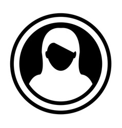 avatar icon female person symbol circle user vector image