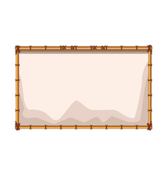 bamboo blank sign vector image