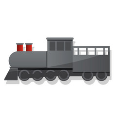 black locomotive icon cartoon style vector image