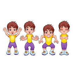 Boy poses vector image