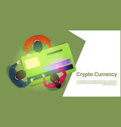business people sit at credit card bitcoin top vector image