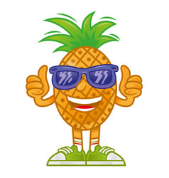 cartoon pineapple vector image