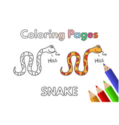 cartoon snake coloring book vector image