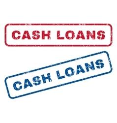 Cash Loans Rubber Stamps vector image