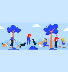 character people walking vector image