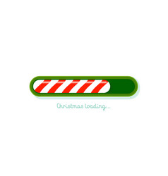 christmas loading red and green christmas candy vector image