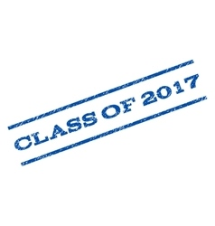 Class Of 2017 Watermark Stamp vector image