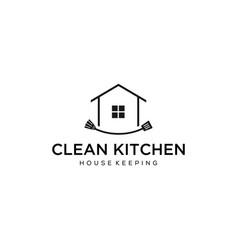 clean kitchen vector image