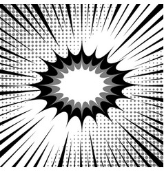 comic monochrome template vector image