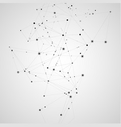 connect polygonal network background lines and vector image