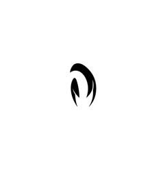 creative penguin logo design vector image