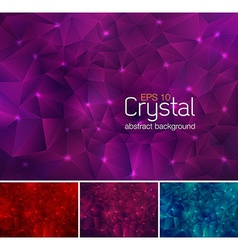 Crystal abstract background vector image
