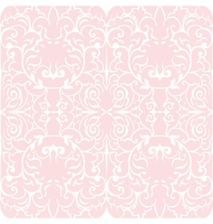 Damask luxury floral ornament pattern vector image