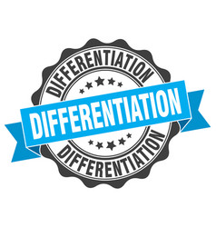Differentiation stamp sign seal vector