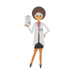 Doctor female with clip and headmirror vector