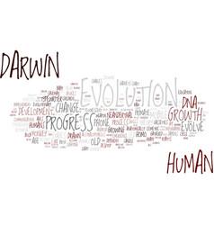 Evolution word cloud concept vector