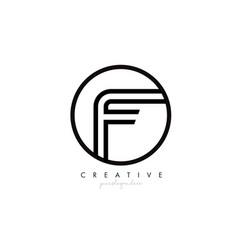 f letter icon logo design with monogram creative vector image