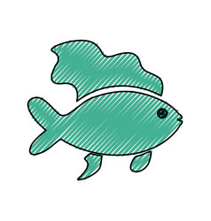 Fish sea animal vector