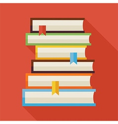 Flat Reading Books Knowledge with Shadow vector image