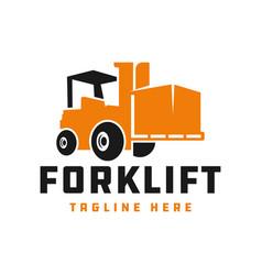 Forklift logo design your vector