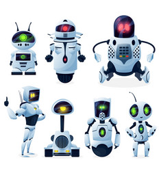 Future androids alien cyborg or robot toys vector